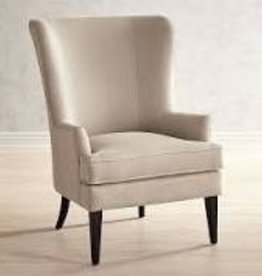 MYCO Waller Beige Wingback Accent Chair