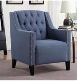MYCO Perry Blue Tufted Accent Chair