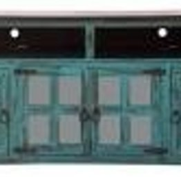 """CLS Rustic 50"""" TV Stand Distressed Turquoise"""
