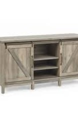 "CLS Rustic 50"" TV Stand Distressed White"