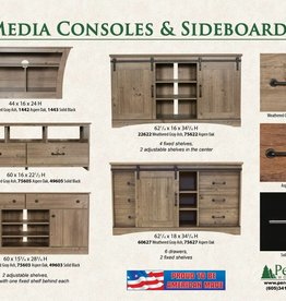 Perdue Weathered Gray Ash Media Console/Sideboard