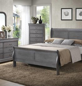 MYCO LP Gray King Sleigh Bed