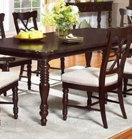 Largo Chocolate Table with 8 Chair