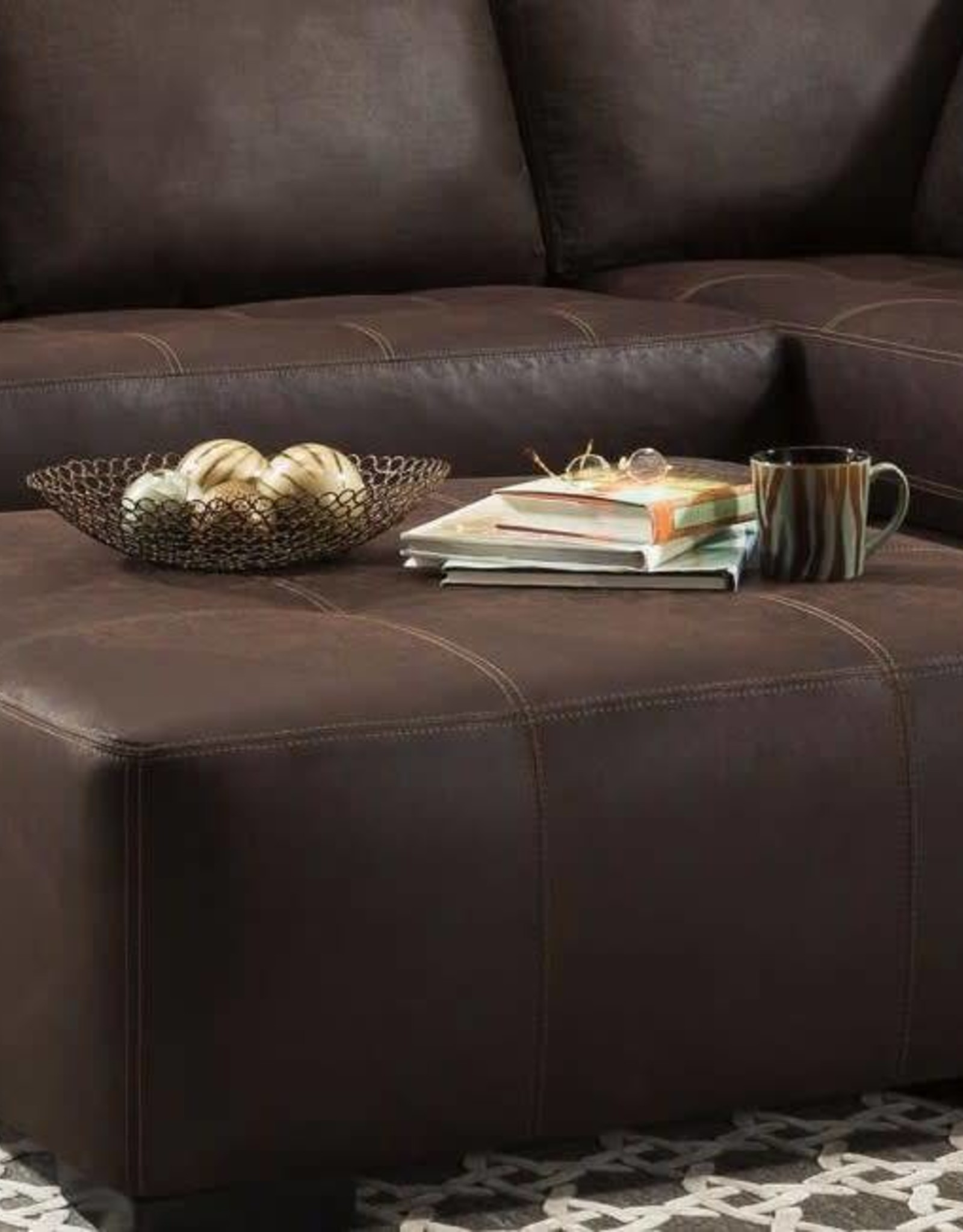 Albany Industry Bandit Espresso Cocktail Ottoman