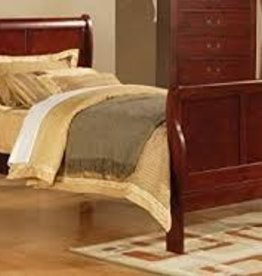 MYCO Louis Phillip Cherry Twin Sleigh Bed
