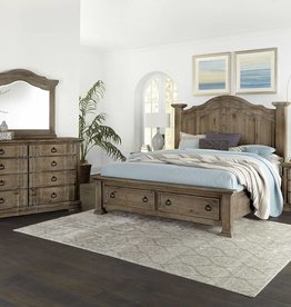 Vaughan-Basset Rustic Hill Coffee King Storage Bed