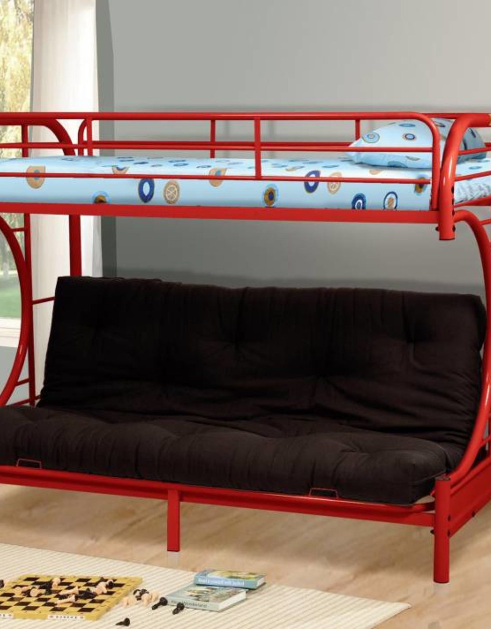 MYCO 9709 Twin Futon RED Only Bunk