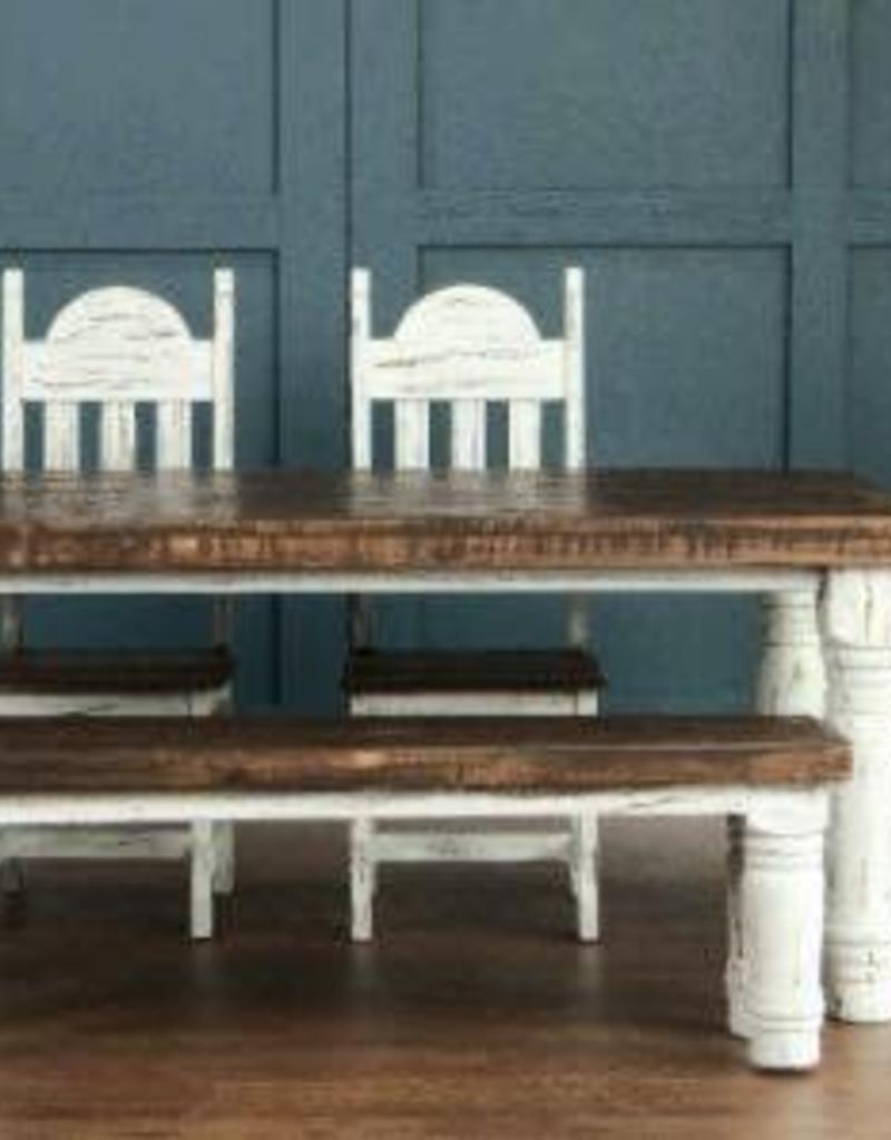 Rustic Santa Rita White Table Set R Amp B Furniture