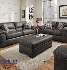 American Furniture Santa Fe Grey Sofa