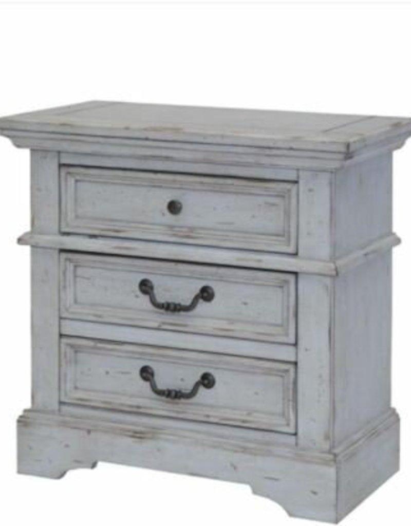 American Woodcrafters Stonebrook Grey Nightstand