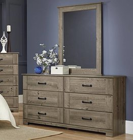 Perdue Meadowlark Weathered Gray Ash Dresser/Mirror