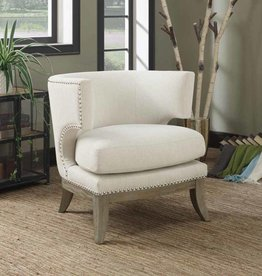 Coaster White Accent Chair