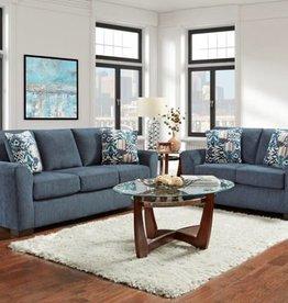 Affordable Furniture Allure Navy Sofa