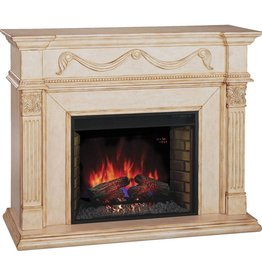 TwinStar Grossamer White Antique Fireplace