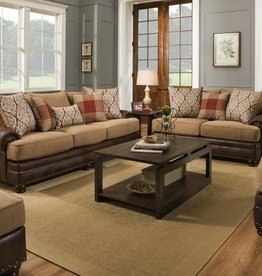 Albany Industry Yellowstone Chocolate Sofa