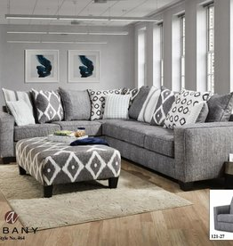 Albany Industry Stonewash 2pc Sectional
