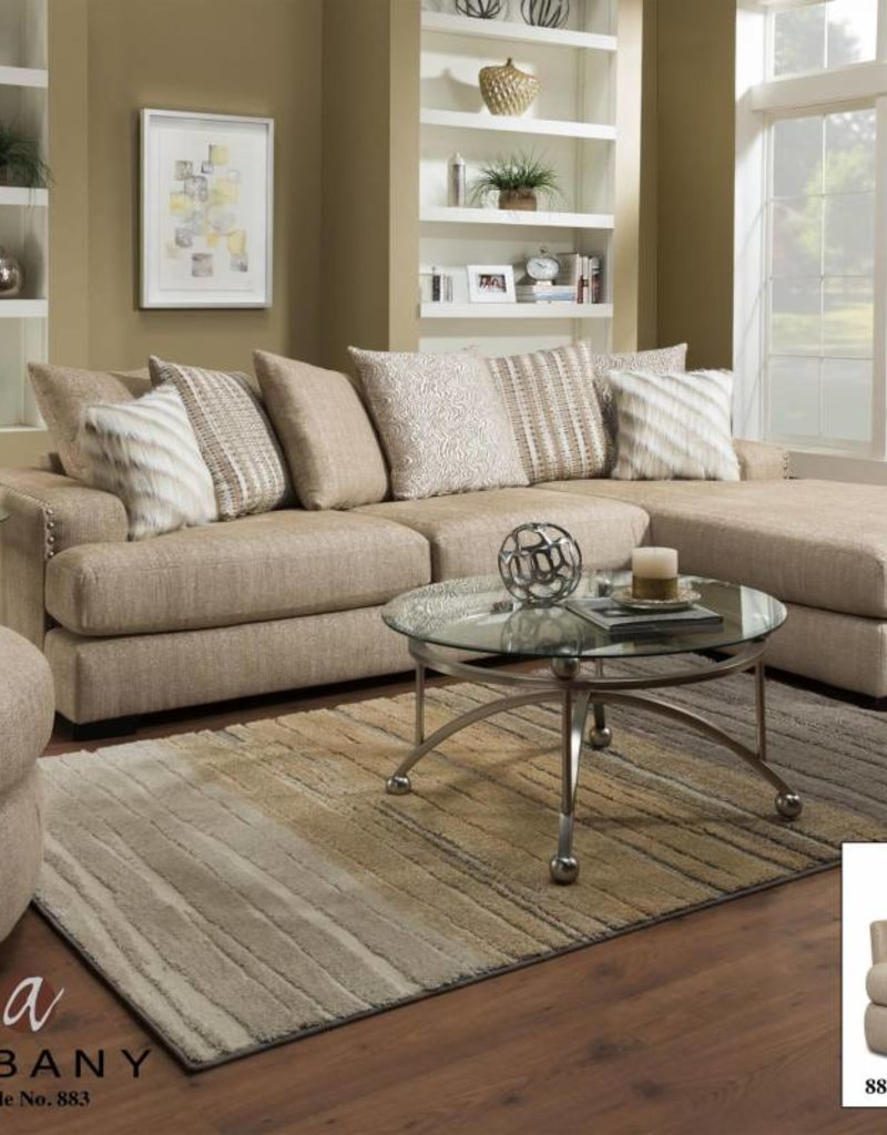 Albany Industry Rondo Oatmeal 2pc Sectional