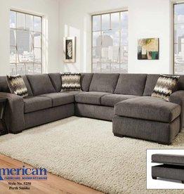 American Furniture Perth Smoke 2pc Sectional