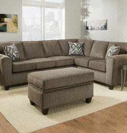 American Furniture Cornell Pewter 2pc Sectional