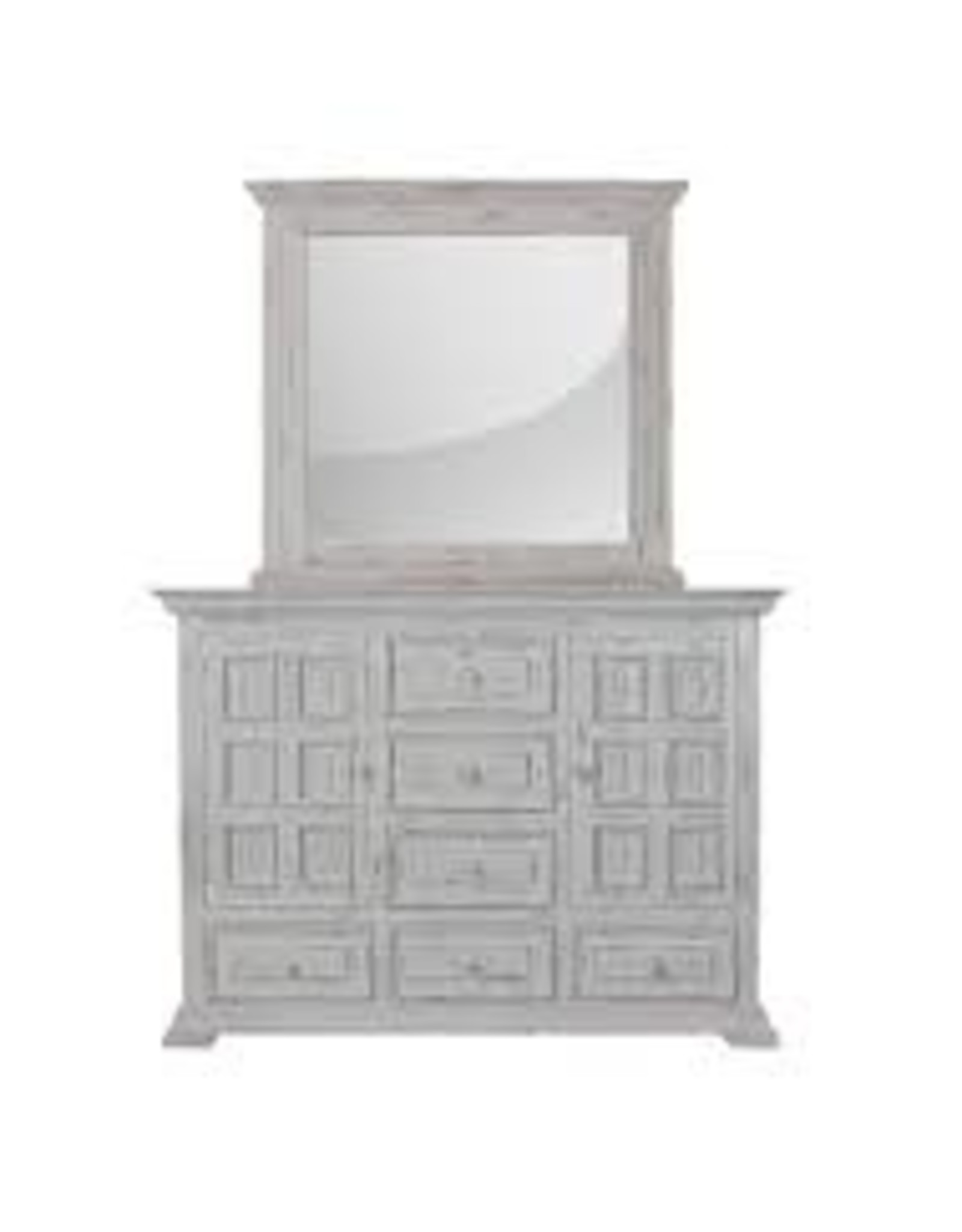 MYCO Charleston White Dresser with Mirror