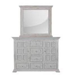 MYCO Charleston White Dresser with Mirror