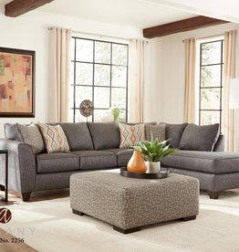 Albany Industry Crypton Graphite 2pc Sectional