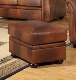 Leather Italian Arizona Ottoman