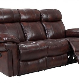 Leather Italian Joplin Power Chocolate Sofa