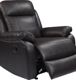 Leather Italian Daniel Manual Glider Recliner