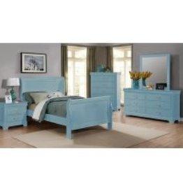 MYCO Louis Philippe Blue T Bed DMCN