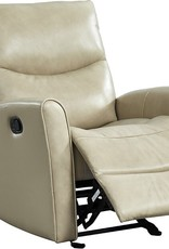 Leather Italian Abby Manual Glider Recliner