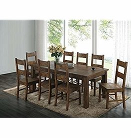 Coaster Rustic Golden Table w/6 Chair