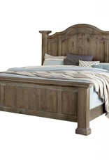 Vaughan-Basset Rustic Hill Gray Poster Bed King