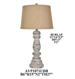 Crestview Distressed Brown and Cream Lamp