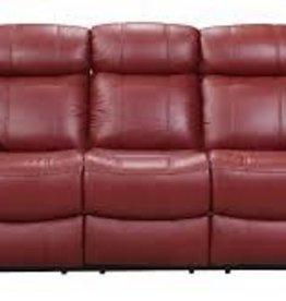 Leather Italian Joplin Power Red Sofa