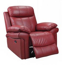 Leather Italian Joplin Power Red Recliner