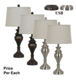 Crestview Metal Table Lamp
