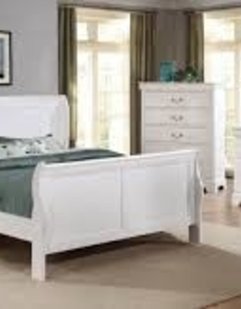 MYCO Loui Philippe Queen White Bed