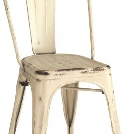 Coaster White Beige Metal Dining Chair
