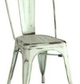 Coaster Blue Green Metal Dining Chair