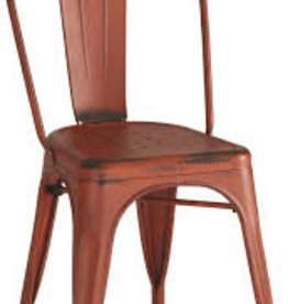 Coaster Red Metal Dining Chair