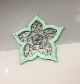 Mexican Decor Wood Flower