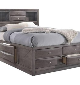 Elements Emily King Storage Bed: Grey