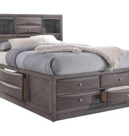 Elements Emily King Storage Bed: Grey