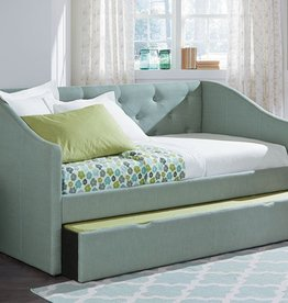 Standard Blue Padded Daybed W/Trundle