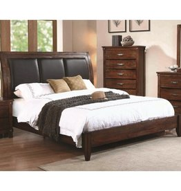 Coaster Rustic Oak Queen Bed
