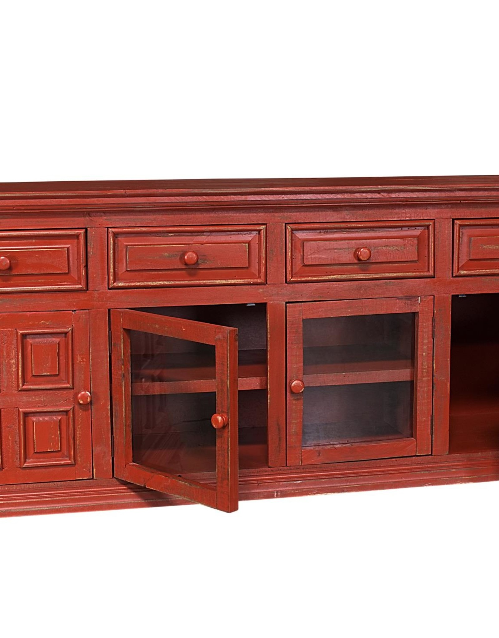 "MYCO Charleston Red 70"" TV Stand"