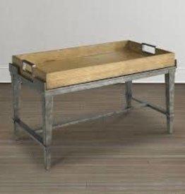 Bassett Bassett Cocktail Table Iron Wood Tray