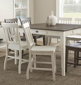 Steve Silver Cayla White Counter Chair