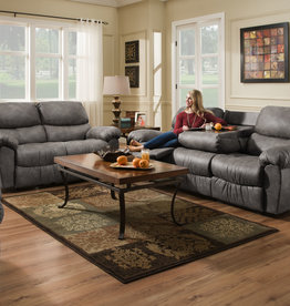 American Furniture Santa Fe Grey Motion Love Seat